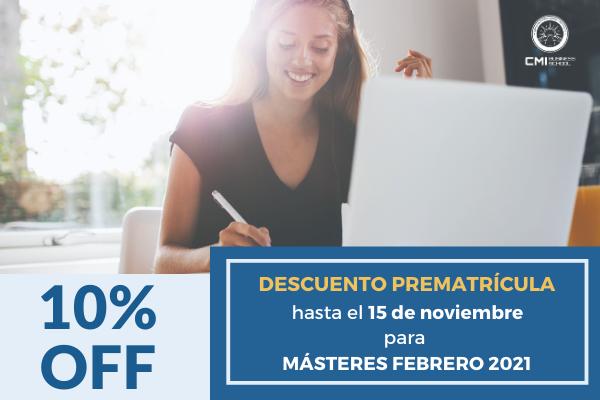 MÁSTERES-FEBRERO 2021: Extendemos el plazo de descuento por prematricula